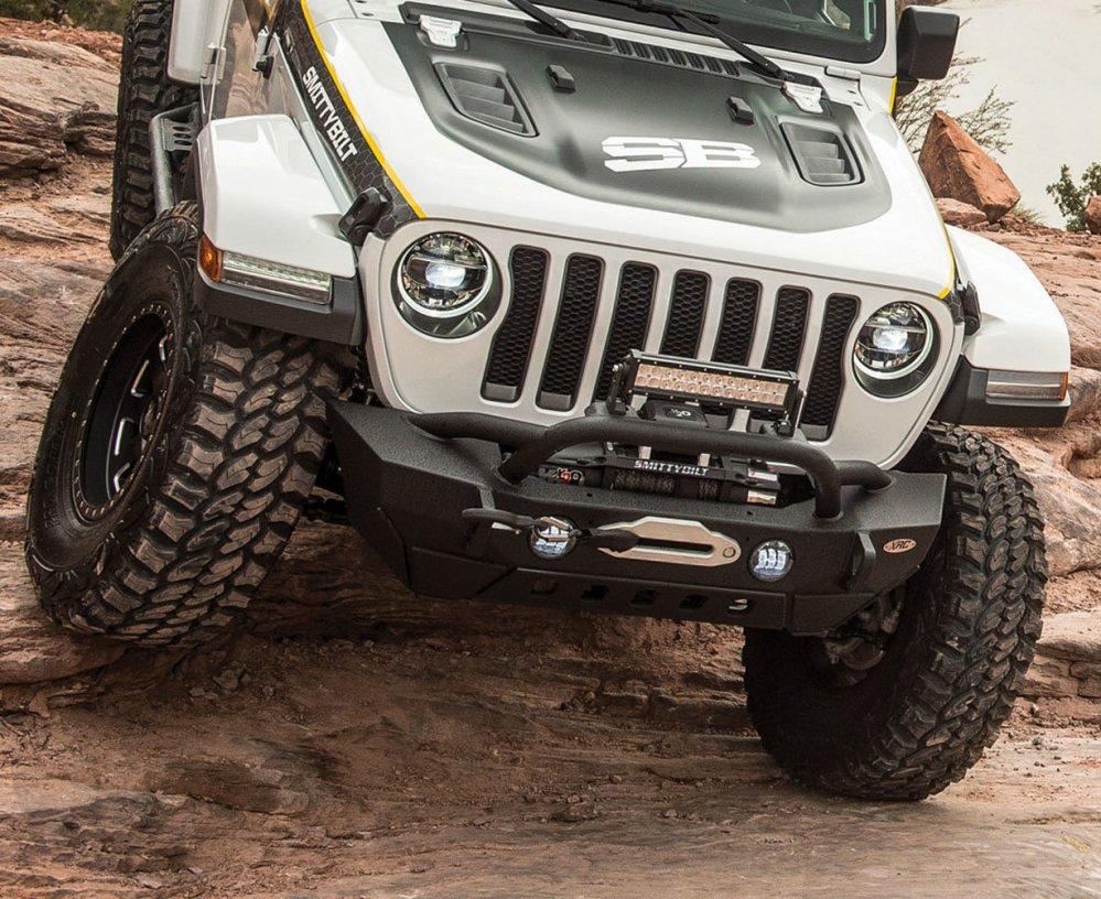 medium resolution of smittybilt 77807 xrc gen2 front bumper for 18 19 jeep wrangler jl quadratec