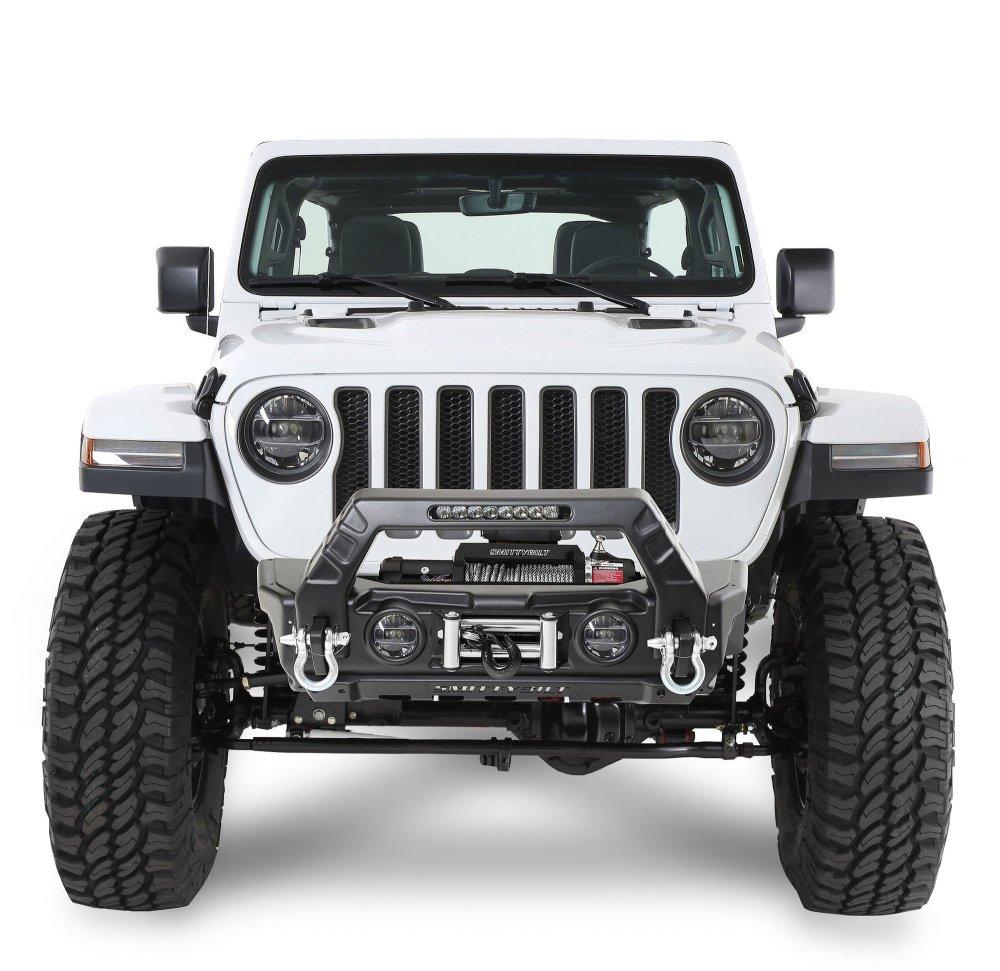 medium resolution of smittybilt 76730 stryker front bumper for 07 19 jeep wrangler jl and jk quadratec