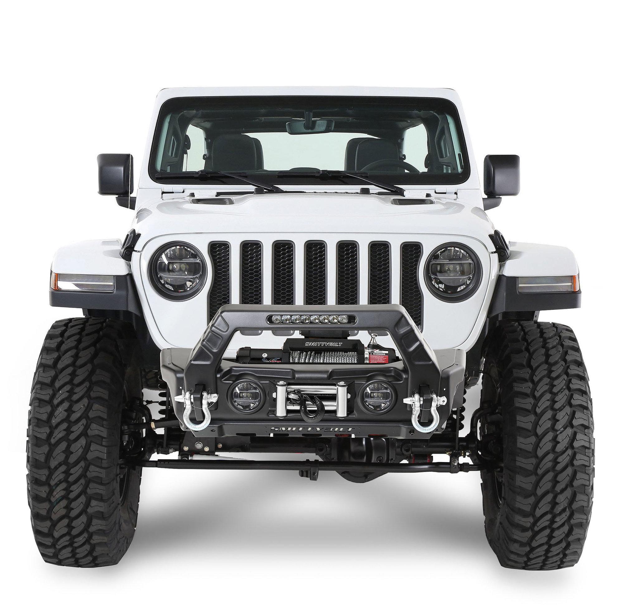 hight resolution of smittybilt 76730 stryker front bumper for 07 19 jeep wrangler jl and jk quadratec