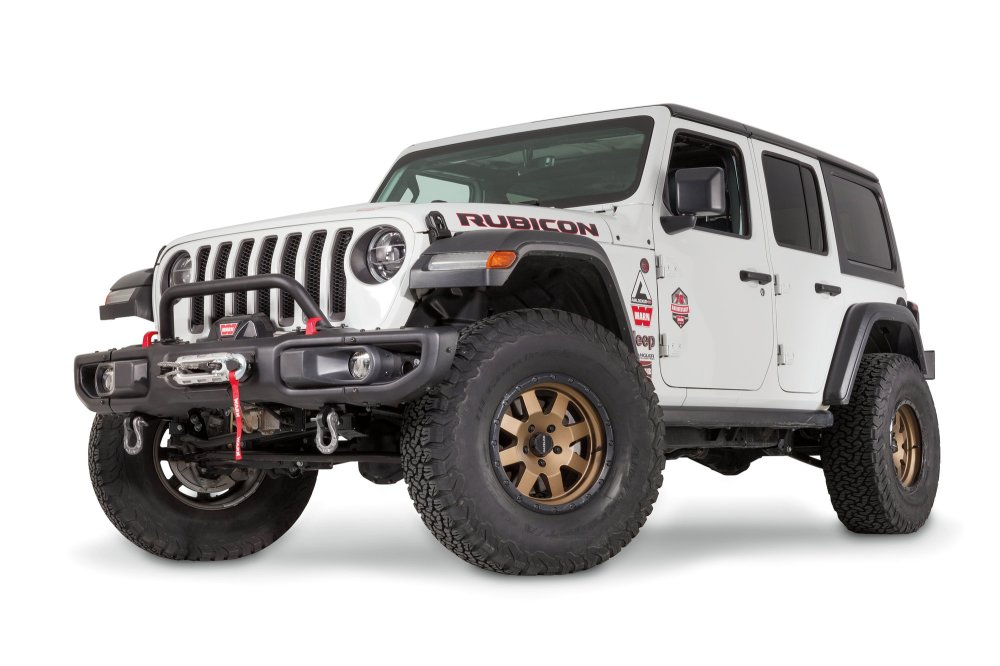 medium resolution of warn 102355 low grille guard tube for 18 19 jeep wrangler jl with factory steel