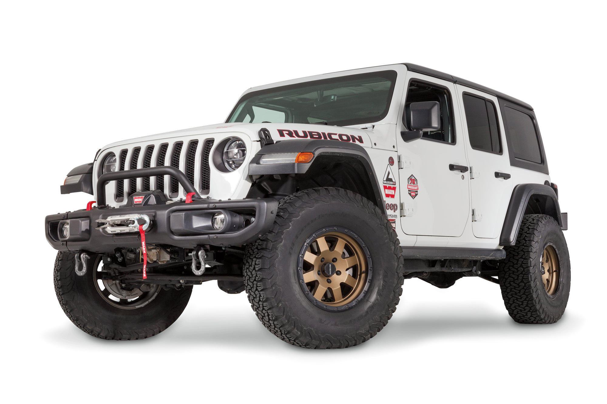 hight resolution of warn 102355 low grille guard tube for 18 19 jeep wrangler jl with factory steel