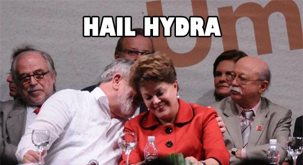 Resultado de imagem para HAIL HYDRA dilma