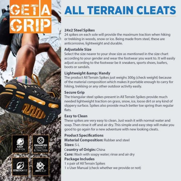 all terrain cleats features- QuadtrekUSA
