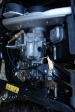 Organschau: Das CVT-Getriebe liegt im Fokus des Betrachters, der Zweizylinder-Motor versteckt sich unterm Fahrersitz.