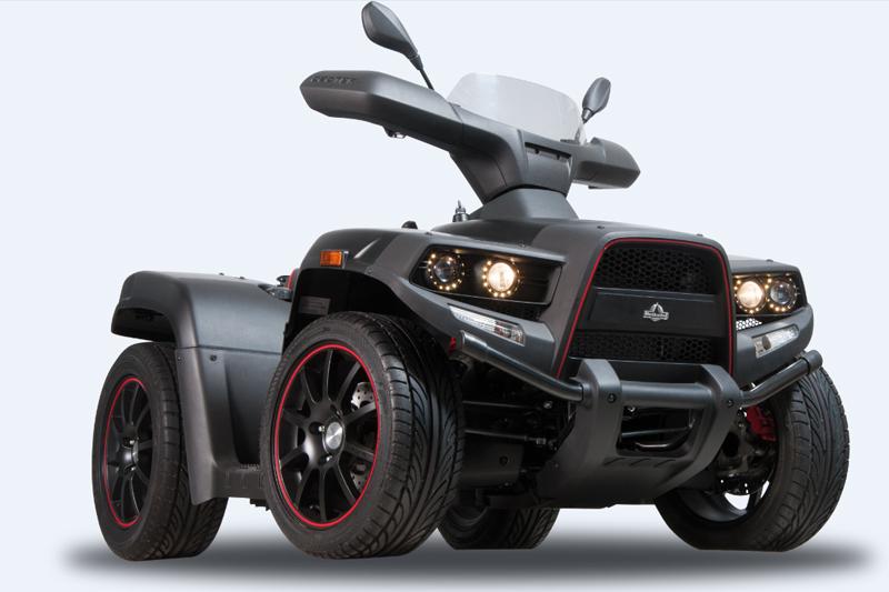 Für die Straßen-Fans: Der Roadster von Herkules als BlackRock-Ausführung.