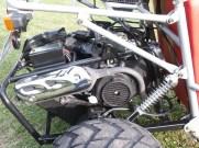 Piaggio Rollermotor mit 125 ccm und CVT Getriebe.