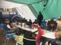 Mittagspause im Fahrerlager