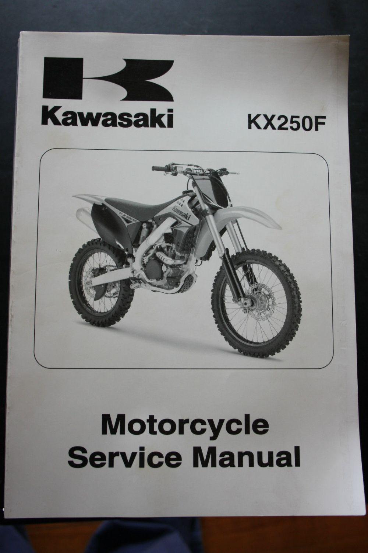 medium resolution of genuine kawasaki motorcycle service workshop manual 2009 kx250f kawasaki