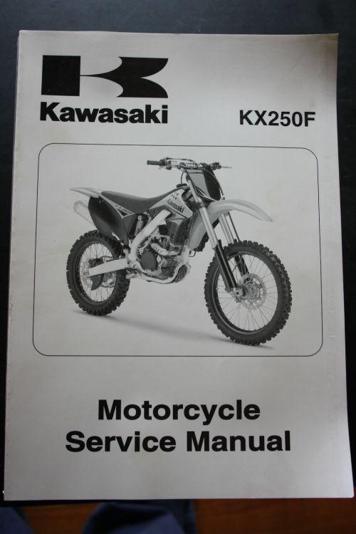 small resolution of genuine kawasaki motorcycle service workshop manual 2009 kx250f kawasaki