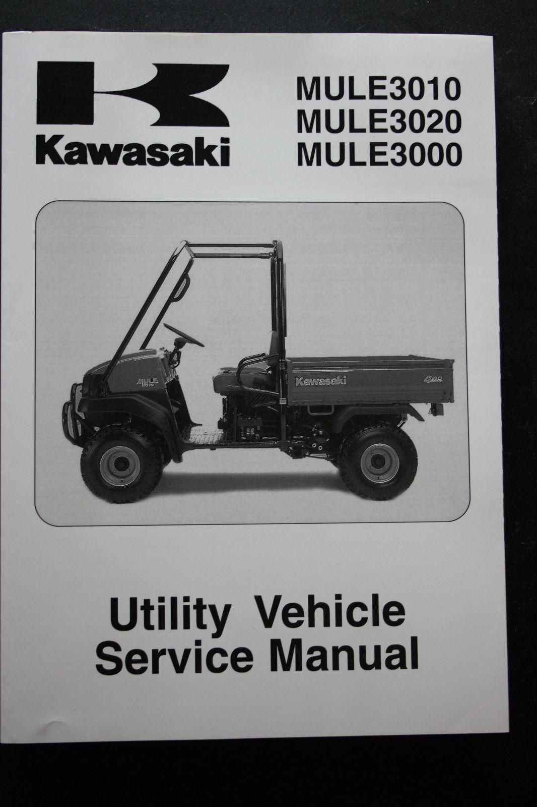 hight resolution of genuine kawasaki utility service workshop manual 01 08 mule 3010 3020 3000 kawasaki