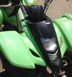 suzuki ltz kawasaki kfx 400 2004 green plastics set front rear side fenders [ 1600 x 1200 Pixel ]