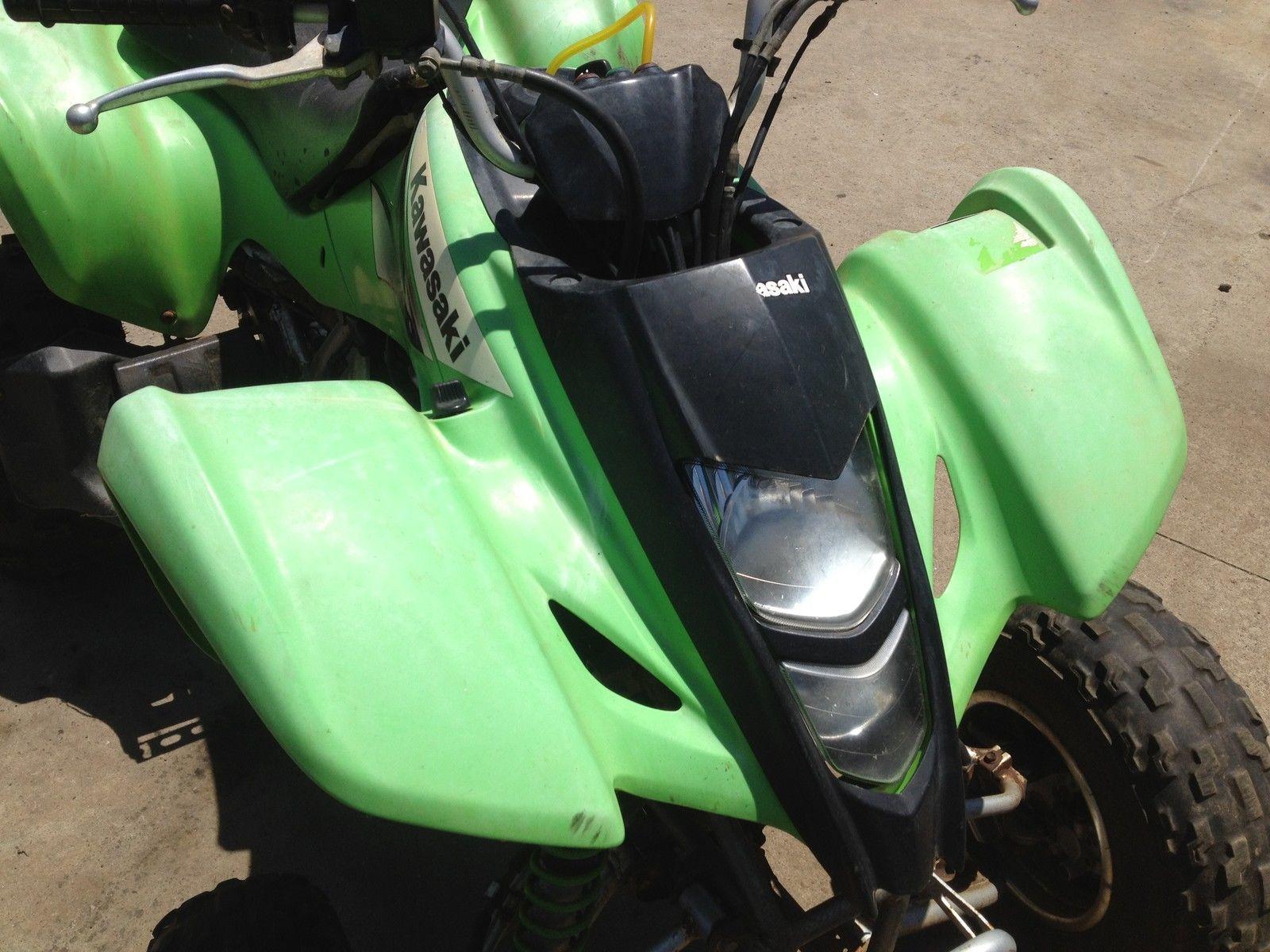 hight resolution of suzuki ltz kawasaki kfx 400 2004 green plastics set front rear side fenders