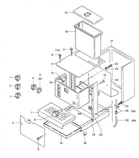 Rancilio Silvia technical drawing