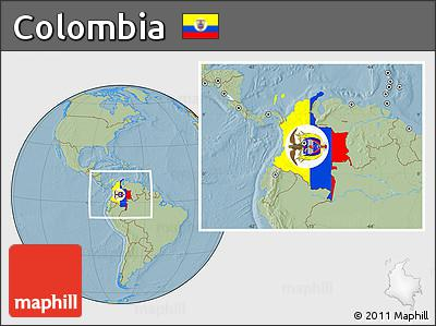 Location map of Colombia