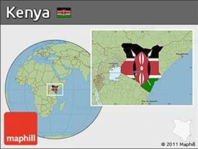location map of Kenya