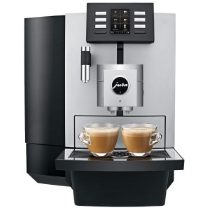 Jura X8 coffee machine front