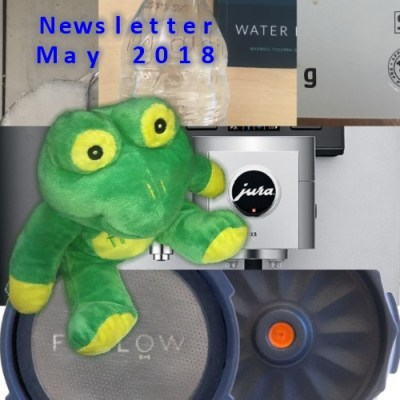 Quaffee Newsletter May 2018 secrets,water, coffees, news and GDPR