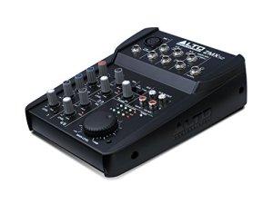 ALTO Professional ZMX52 – Table de Mixage Compacte 5 Voies avec Entrée XLR, EQ et Aux In/Out
