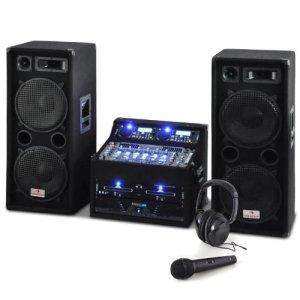 Auna Set DJ PA Rack Terra Titan 2000W – pour 400 Personnes