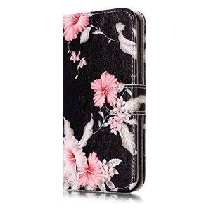 Étui portefeuille à rabat pour Samsung Galaxy avec support pliable pour cartes Samsung Galaxy S8 color seven