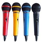 Ibiza DM400 Assortiment de 4 Microphones dynamiques Noir/bleu/rouge/jaune