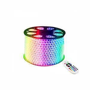 Jeu de bandes lumineuses à DEL dimmable, 110V – Ruban à 220V, Ruban à LED imperméable de 16 couleurs, Bande avec télécommande (d'autres tailles peuvent être personnalisées)