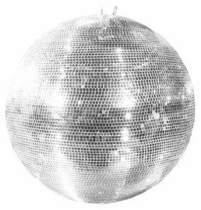 Set de 2x boule à facettes en verre véritable Glix avec facettes, Ø 100cm, argent–boule disco scène pour les bars, clubs ou photos–showking