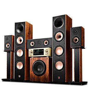 BNANAB -speaker Système Home cinéma avec 5,1 de Champ sonore Surround Technologie 3D Surround Bluetooth Connexion Enceintes de Sol