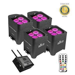 Chauvet DJ Freedom Par Hex-4 LED Noir + FlareCON Air Wireless Bundle émetteur