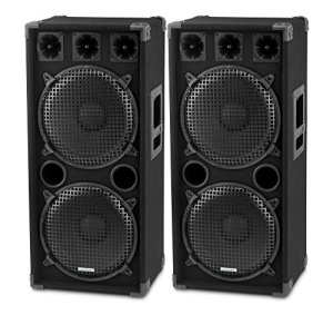 McGrey DJ-2222 Enceintes Party basement/DJ Paire 2 x 1000W
