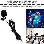 Portable Mini 3.5mm 30Hz -15000Hz Cravate Revers Lavalier Clip Microphone pour Conférences Cours Enseignement Éducation ToGames-FR