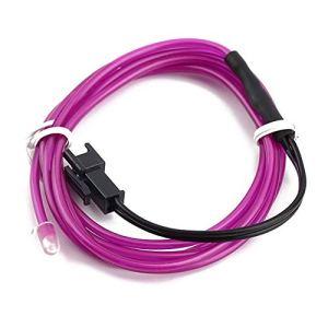 1 mètre coloré câble flexible EL fil corde corde néon lueur voiture partie extérieure accessoires essentiels – Violet