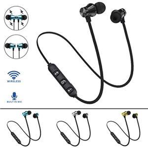 Momorain Magnétique XT11 Confortable Porter Sport Course sans Fil Écouteurs HiFi Stéréo Basse in-Ear Écouteurs pour Smartphones