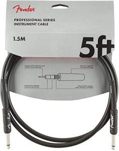Fender 099-0820-026 Cble pour instrument série professionnelle – 5 ft – STR/STR – noir