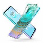 Suhctup Moda Coque Compatible pour Motorola Moto G7 Power,Transparent Silicone TPU Souple Étui avec [Motif Fleur] Crystal Ultra Fine Shock-Absorption Antichoc Protection Housse Cover Case(Lacet 7)