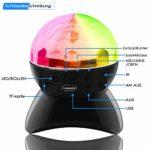 SZSMD Lampe boule à facettes LED pour fête avec effets de lumière disco Bluetooth et câble USB – 6 couleurs RVB – Lumière rotative à 360° pour Noël, les enfants, la chambre d'enfant, la fête