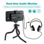 Microphone Cravate Sans fil Rechargeable 20 Canaux Omnidirectionnel UHF Smartphone Système Microphone Lavalier Sans fil pour iPhone Android iPad Caméra Interview YouTube Vlogging – ZHUOSHENG