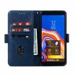 SNOW COLOR Coque Galaxy J4+ (J4Plus) Portefeuille, en Cuir Flip Case pour Bumper Protecteur Magnétique Fente Carte Housse Cover Coque pour Samsung Galaxy J4 Plus/J415FN – COYKB010197 Bleu