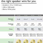 Câble de Haut-Parleur 14AWG, Série GearIT Pro Câble de Haut-Parleur de Calibre14 (30,48Mètres) Idéal pour Les Haut-Parleurs de Home Cinéma et Les Haut-Parleurs de Voiture, Noir