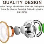 Écouteurs intra-auriculaires filaires pour iPhone 7, écouteurs stéréo HiFi avec microphone et contrôle du volume Compatible avec iPhone SE/11/11 Pro Max /X/XS Max/XR/8/8 Plus/7/7 Plus-Tout système iOS