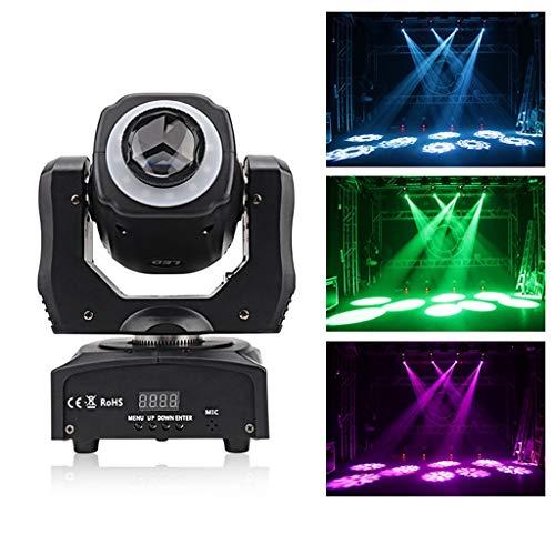 KELITE LED RGB scène Lyres lumières 60W 8 Couleurs GOBO Rotatif Roue for DJ Disco Party KTV Boîte de Nuit (Size : Package C(4 PCS))