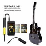 MezoJaoie Guitar Effects Interface Adapter Converter, Effets Tuner Guitar Accessory pour IPhone