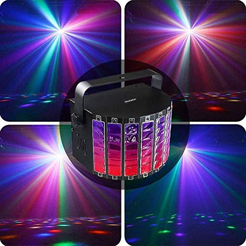 YXB Party Disco Lights 9 Couleurs LED Ktv Bar Butterfly Light Strobe Sound Control Flash DJ Stage Light