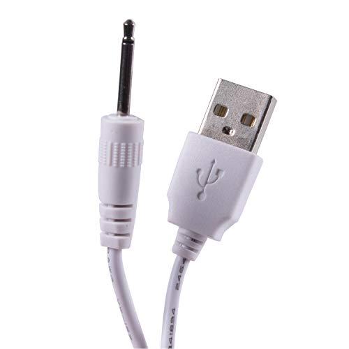 Câble de charge USB vers jack de 2,5 mm CC avec 2 pôles adaptateur 18 mm pour appareil électronique