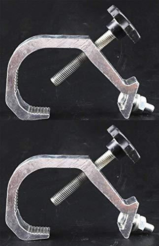 (Paquet de 2) Suspension pour crochet de sécurité, crochet de suspension, utilisation pour poutre principale mobile, accessoires d'éclairage auxiliaires LED (40-60mm 30kg)
