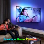 Ruban LED,Sylvwin Bande LED 5m RGB avec Télécommande,5050 Bandes LED Lumineuse avec 16 Changements de Couleur,4 Modes pour Maison,Chambre,Télévision,Décoration D'armoire,Fête