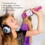 TIUENHAVU Microphone De Poche Karaoké Mic USB Mini Home KTV pour Music Professiona Speaker Player Singing Recorder Mic Gold