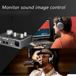 YPJKHM Professional Compact Audio Interface Portable Professional Moniteur de Carte Son et Contrôle de Carte Son 2 In 2 Out