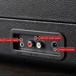 WN-PZF Platine Vinyle, Tourne-Disque rétro à Trois Vitesses, Haut-parleurs stéréo intégrés, Prise en Charge USB, Prise Casque, Bluetooth, Conception de la Mallette de Transport