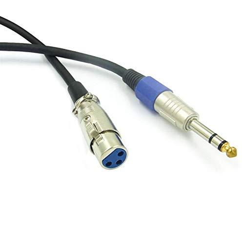 6.35 Big Two-Core TS Connexion Guitar Line Effect Boîte électrique Balance XLR Balance Audio Réduction de bruit CAXVYK (Color : Blue shell head turn 6.5)